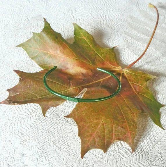 Crochet hook bracelet green bracelet crochet lover green