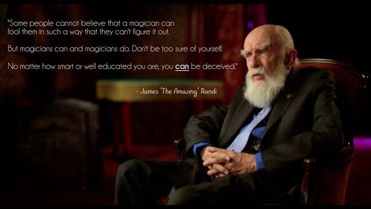 """""""Some people cannot believe that a magician can fool them..."""" - James Randi [1920x1080]"""