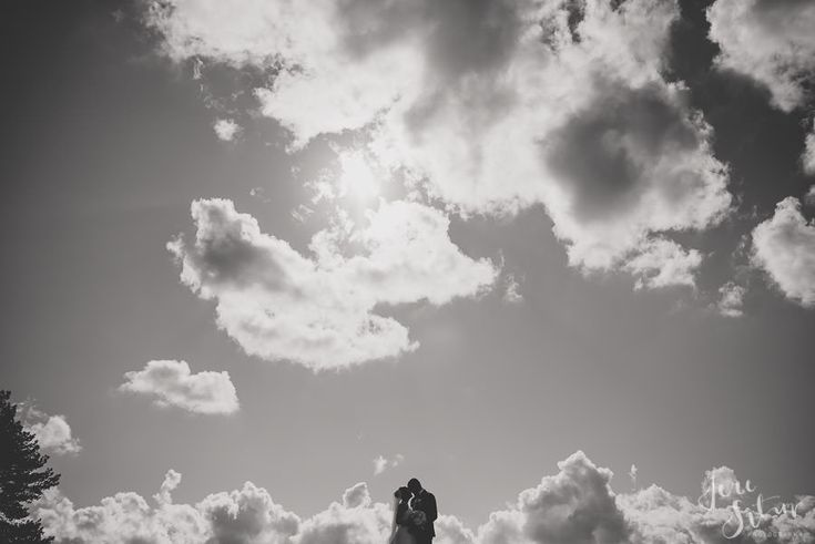Groom | Bride | Clouds | Weddings | Wedding Photography | Jere Satamo | Hääkuva | Wedding Portrait | Happy Couple | Black and white