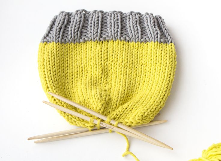 Knitting Patterns for Beginners | How to make a knitted hat step 6 | Mollie Makes