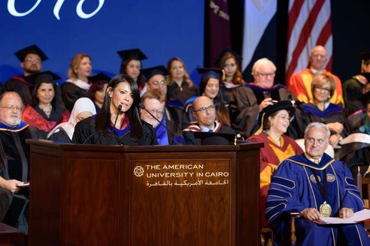 وزيرة السياحة تلقى كلمة بحفل تخرج دفعة الدراسات العليا بالجامعة الأمريكية ألقت الدكتورة رانيا المشاط وزيرة السياحة الكلمة الرئيسية Cairo American Talk Show