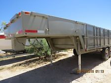 1976 ASVE flatbed trailer  gooseneck with stake sides