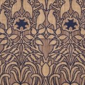 arts and crafts purple flat-weave curtain and upholstery fabric - Charles Voysey Fabrics Hawthorne Iolite