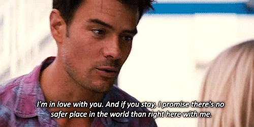 Safe Haven. I love this movie :) ♥ omg this movie was amazing, sad, funny, and completely and utterly beautiful all at the same time.