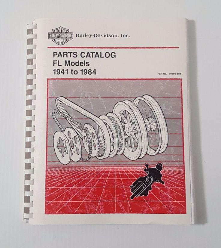 HARLEY DAVIDSON REPOP SPARE PARTS CATALOG for Harley 1941 - 1984 Pan & Shovel