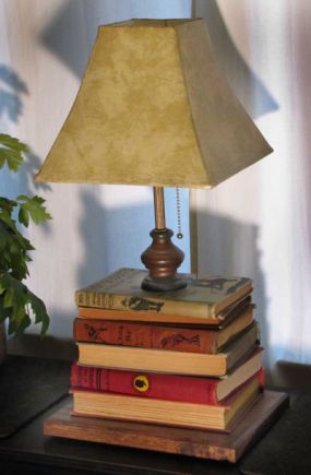 Book lamp!  This is my fav!!!   written instructions/guidance only