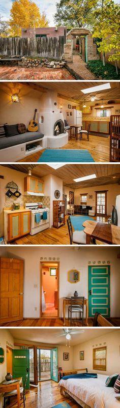 A 535 sq ft tiny house on wheels in Santa Fe, New Mexico