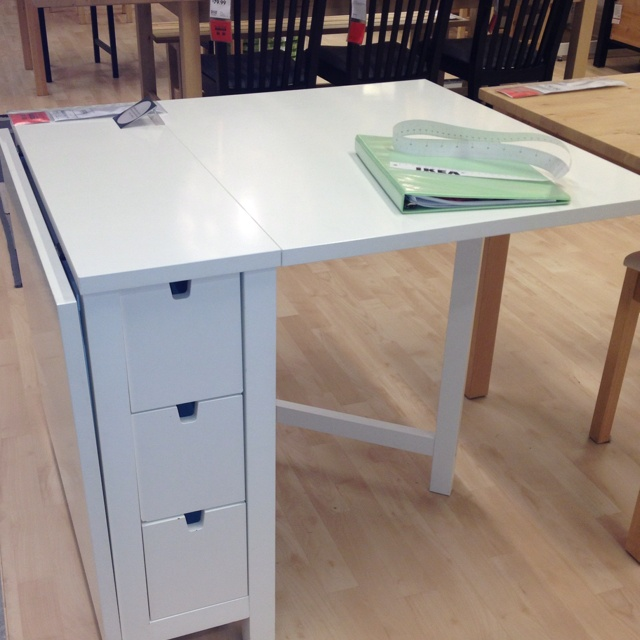 Ikea Norden Table Hack: Ikea Norden Gateleg Table. Only $199. Both Sides Fold Down