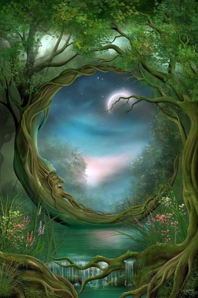 two Fairies | Two moons on the lake | fairies