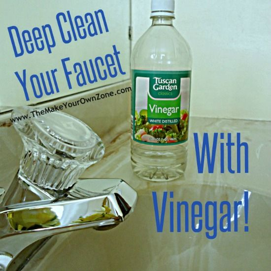 <<DIRECTLY FROM SITE>> How to remove mineral deposits on a faucet using vinegar