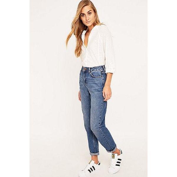 BDG - Dunkelblaue Vintage-Mom-Jeans - Damen