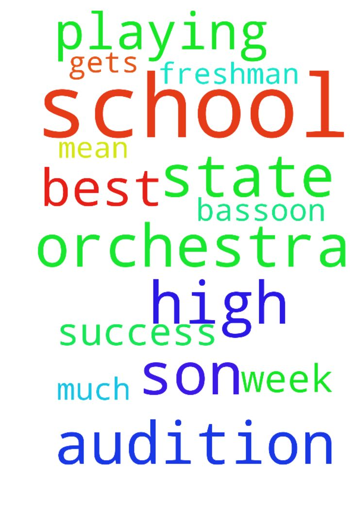 Please pray for my son to do his very best playing - Please pray for my son to do his very best playing his bassoon for an audition for the high school state orchestra. He auditions this week. Please pray for success and that he gets in the state orchestra. He is a freshman in high school and it would mean so much to him. Posted at: https://prayerrequest.com/t/o8f #pray #prayer #request #prayerrequest