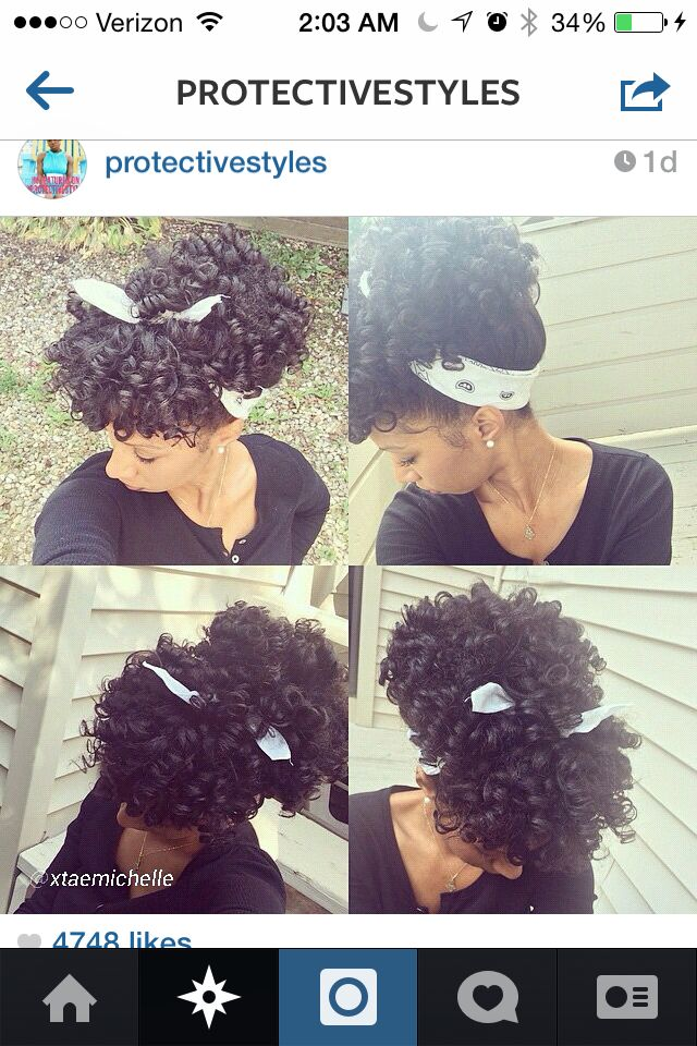 Perm rods ! I saw this protective style on Instagram & I'm dying to try it #naturalhair #permrods #protectivestyle # blackhair #cutestyle