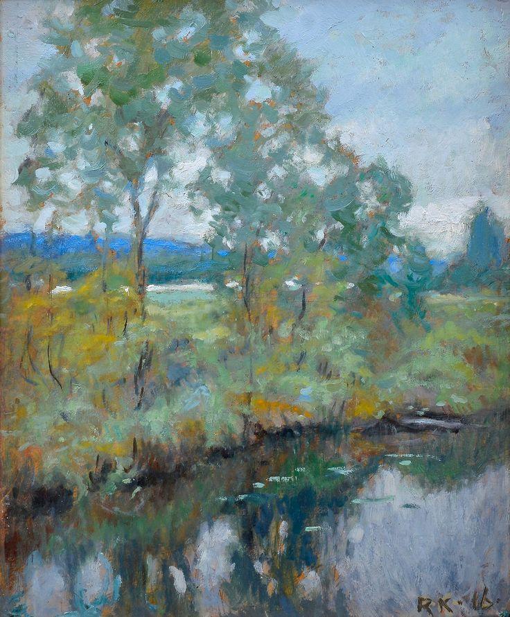 """Rudolf Koivu (Finnish, 1890-1946), """"River View""""."""