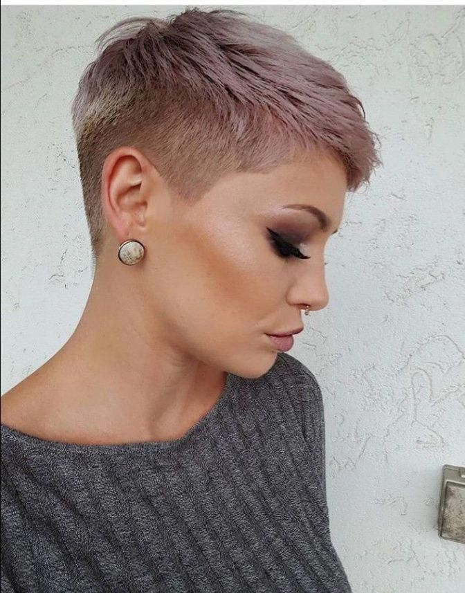 Please Check More Awesome Why Is Ultra Short Undercut Pixie So Famous Ultra Short Undercut Pixie In 2020 Haircut For Thick Hair Super Short Hair Thick Hair Styles