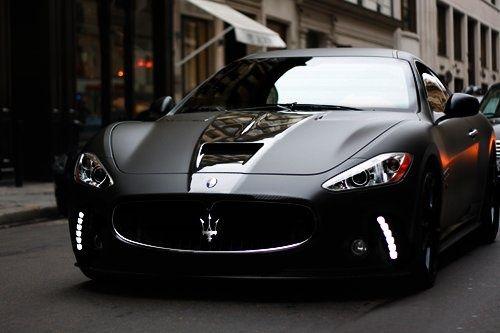 Black Maserati :) #black #car #moto #cars