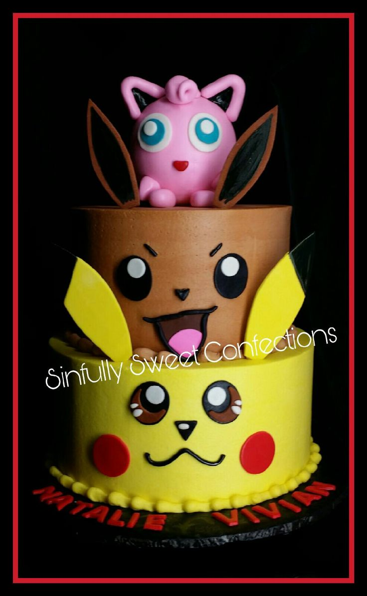 Buttercream Pokemon Birthday cake