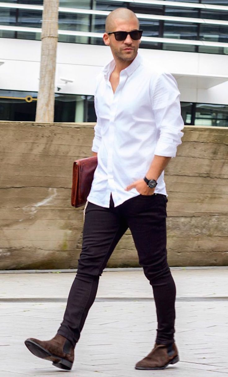 Men's styling: 3 Ways to Wear a White Shirt