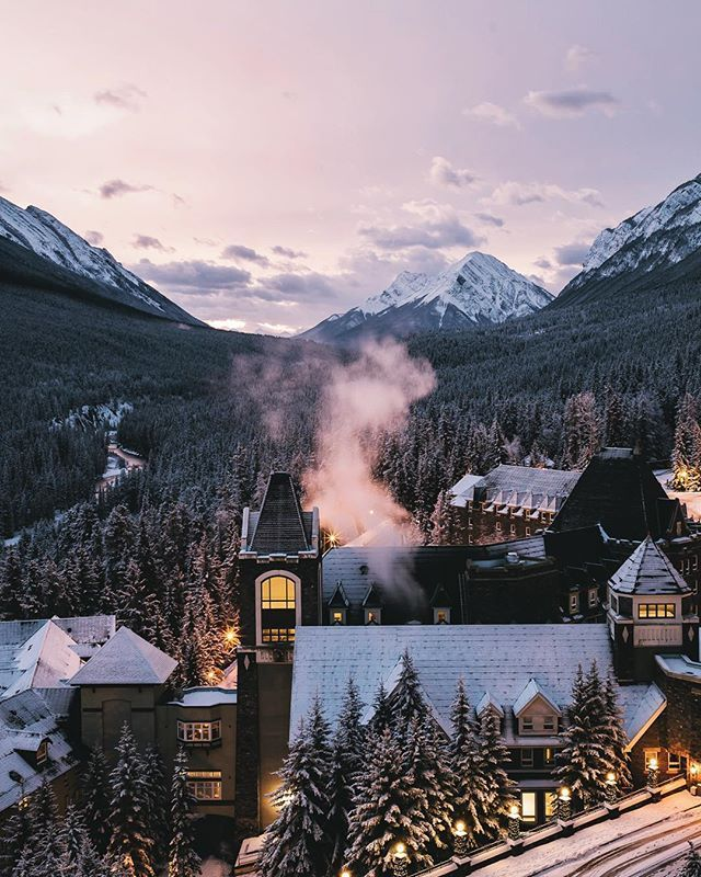 Places That Are Even Better During The Winter banff, alberta, canada | villages and towns in north america   travel destinations #wanderlust