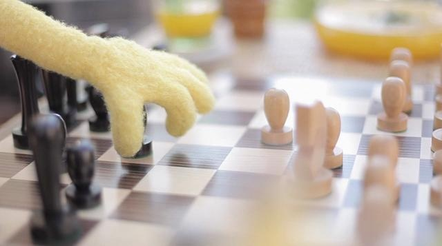 Flat Eric and William Fichtner playing chess. That's it roughly.