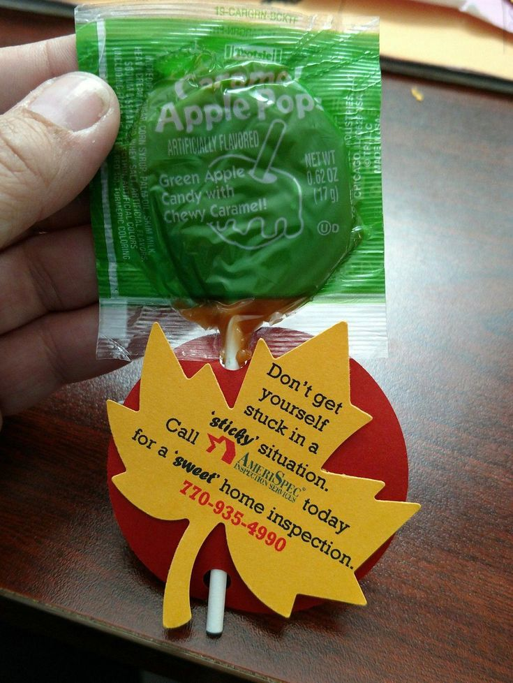 November Pop by. Caramel Apple suckers with the tagline