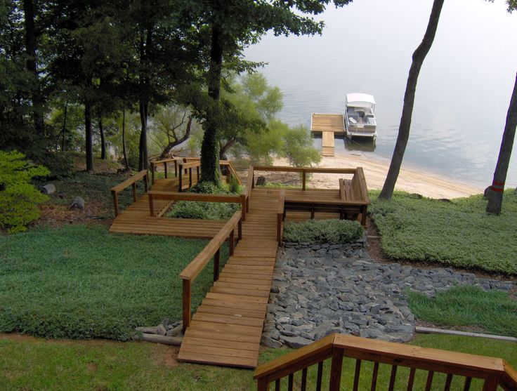 1000 images about hillside decking stairs ideas on for Waterfront deck ideas