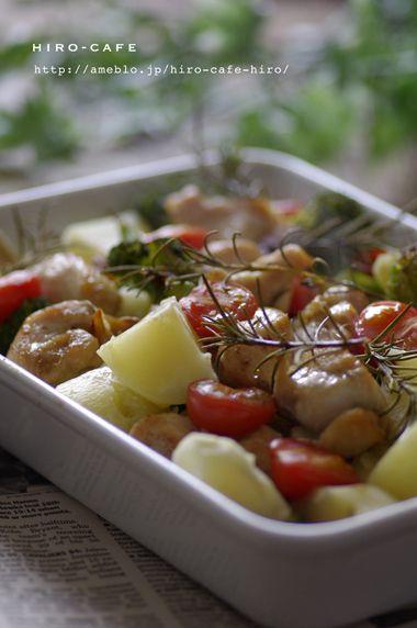 鶏もも肉と野菜のハーブオーブン焼き☆ by hiro(ヒロ) | レシピサイト「Nadia | ナディア」プロの料理を無料で検索