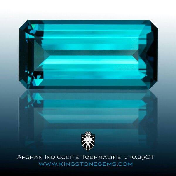 From the King Stone Collection, a superb and exceptionally fine indicolite blue tourmaline from Afghanistan. This beautiful gem weights 10.29 carats, measures 18.7x9.3x6.7mm and is eye clean. It is recommended for both wear and investment and is definitely a gem for the collector. Fine large tourmalines of this water are very scarce.  Available.    WWW.KINGSTONEGEMS.COM  SYDNEY CBD AUSTRALIA