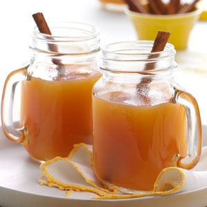 Hot Spiced Cider Recipe from Taste of Home -- shared by Kim Wallace of Dover, Ohio