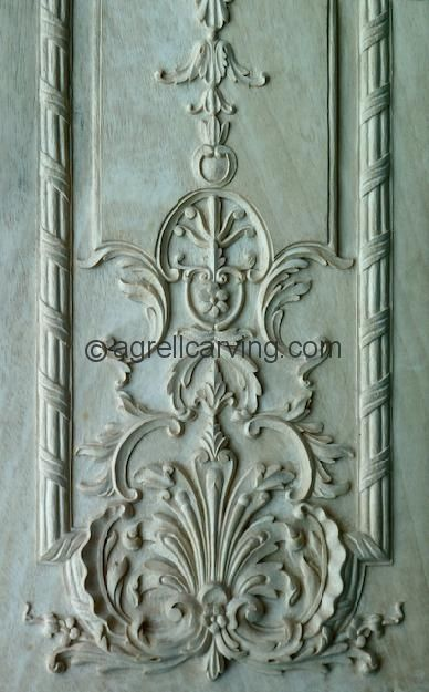 Agrell Architectural Carving: Maliard Manor: hand carved French panel