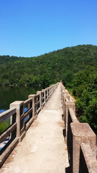 Lake Leatherwood Dam in Eureka Springs, Ar - Lake Leatherwood is a city park with camping (RV to primitive)