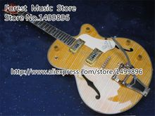 US $375.25 Top Selling Classic G6120 Yellow Falcon Electric Guitar Hollow Flame Body China Guitar In Stock. Aliexpress product