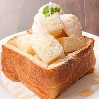 「MIYABI」を1/2斤使用したハニートースト!ミヤビ カフェ 三宮店 (miyabi caFe)