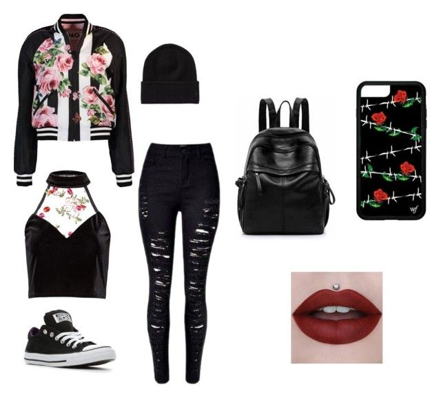 """""""Edgy Teen"""" by acharney9517 ❤ liked on Polyvore featuring Converse and Dolce&Gabbana"""