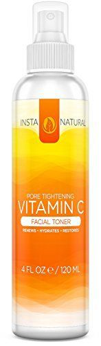 InstaNatural Vitamin C Facial Toner - 100% Natural & Organic Anti Aging Pore Minimizer for Face - With Witch Hazel, Aloe Vera & MSM - Nourishes & Hydrates the Skin - Great for All Skin Types - 4 OZ - http://essential-organic.com/instanatural-vitamin-c-facial-toner-100-natural-organic-anti-aging-pore-minimizer-for-face-with-witch-hazel-aloe-vera-msm-nourishes-hydrates-the-skin-great-for-all-skin-type/