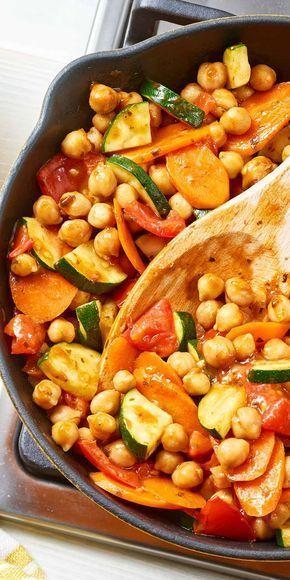 Grão de bico Tajine Marrakech   – Abendessen: schnell, gesund und lecker / Fast Healthy Weeknight Meals