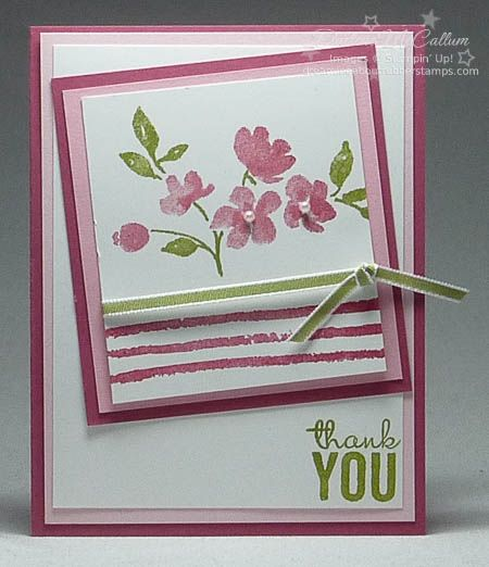 This is a quick sneak peek of a new stamp set, Painted Petals. This set is included in the...