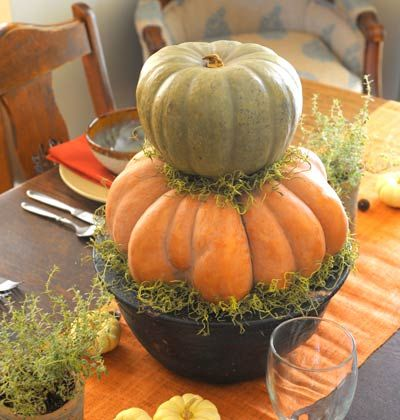 Fall, Pumpkin Centerpiece < Our Top 25 Centerpieces - MyHomeIdeas.com