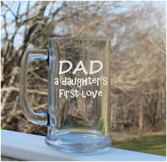 Great gift for Dad! Etched Beer Mug Etched mug  personalized etched by StoneEffectsMD, $18.00