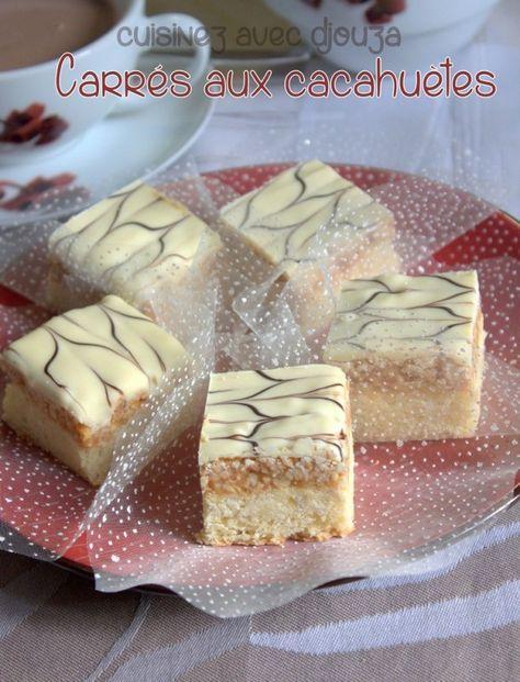J'aime la cacahuète et ses dérivés et pour réaliser ces carrés aux cacahuètes et chocolat, j'ai préparé un sablé bien fondant, sur lequel je dépose une bonne