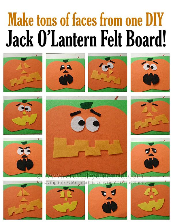 Make a Jack O'Lantern Felt Board by @amandaformaro Crafts by Amanda