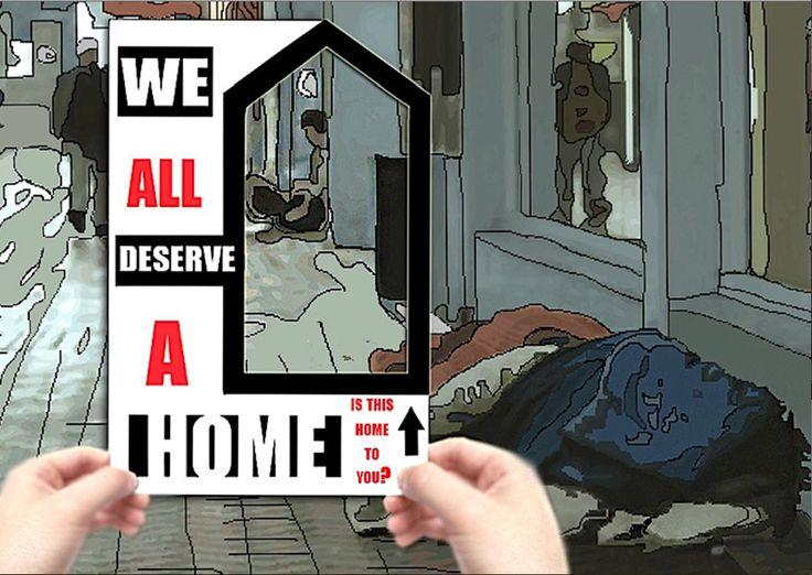 homeless awareness poster © 2014