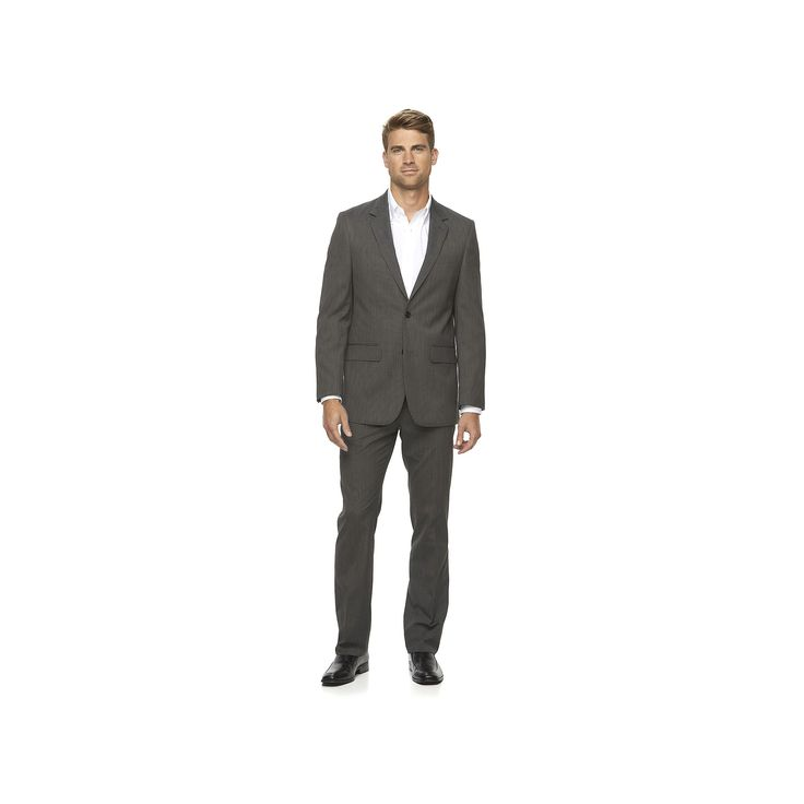 Men's Apt. 9® Extra Slim-Fit Unhemmed Suit, Size: 38R 30, Black