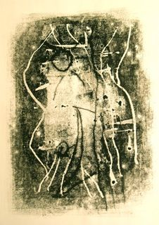 The dance (monoprint)