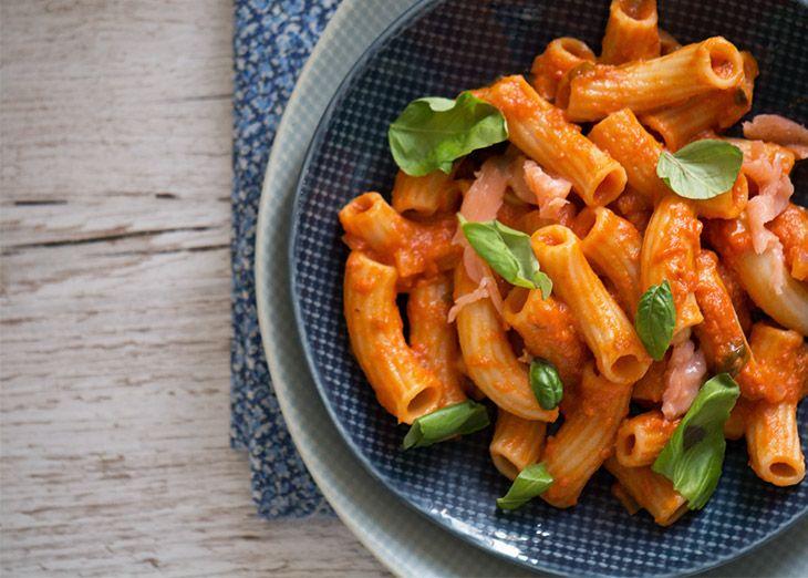 Pastapenne med lækker tomatsauce