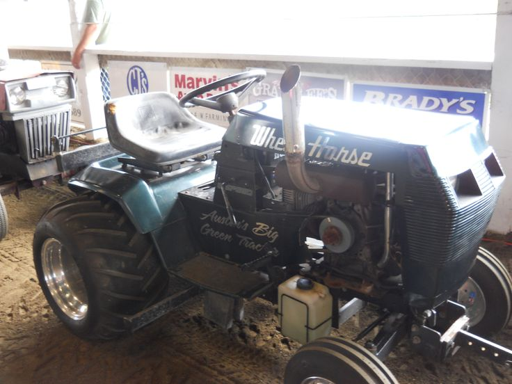 Wheel horse lawn mower in pulling contest https www Garden tractor pulling parts catalog