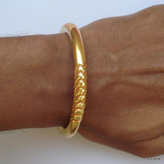 Vintage antique or vermeil or doré bijoux tribaux anciens bracelet-bracelet-manchette