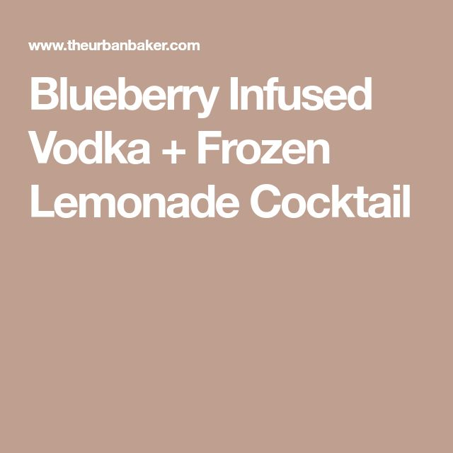 how to make fruit infused vodka