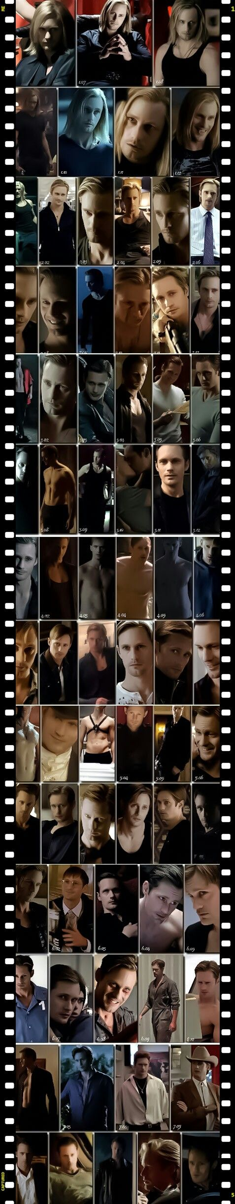 True Blood - Eric Northman - one picture for every episode he was in