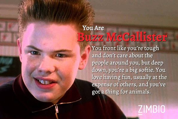 I took Zimbio's 'Home Alone' quiz and I'm Buzz McCallister. Who are you?